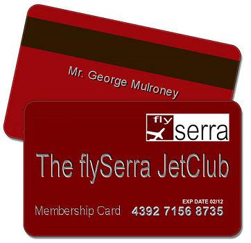 Jet Club Membership Card flySerra